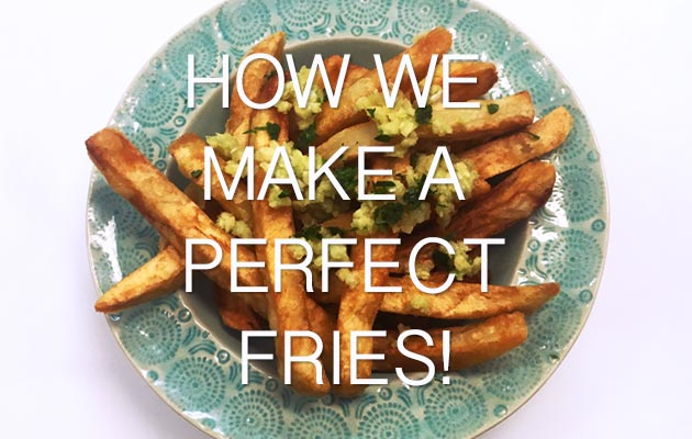How to make a french fries.